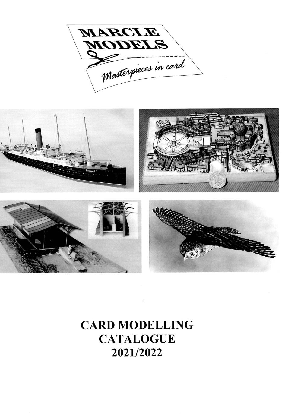 Marcle Models Card Model KIt Catalogue - Ships, Aircraft